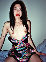 On this occassion eriko gave her tight asian twat to a big white penis for a night of excellent dining and some extra cash...