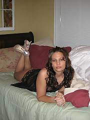 Getting ready for the strip, she did a fast tease show for me. those were some excellent times.