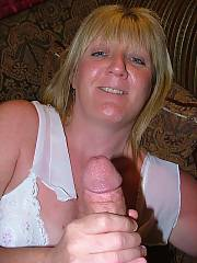 Blond mom gives