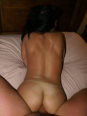 She loves to spread her backside to tack dick. we would drill 4-5 times a week so her backside got a workout.