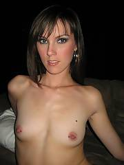 Hot brunette girlfriend whos not afraid to show off her tight body.