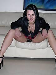 Hot schoolgirl enjoys penis and playing dildo.