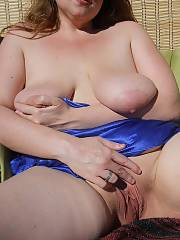 Barbara & her wet mitt - she was another naughty woman who enjoyed being outdoors nude and enjoyed being drilled as well