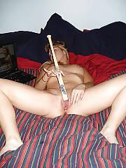 Horny babe inserting