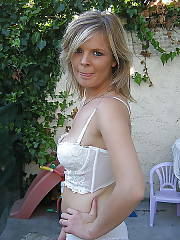 Mature in white dress flashing and sucking cock outdoor.