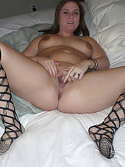 Horny wife enjoys fingerfucking and toying her wet pussy.