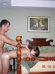 Naughty amateur girl banged at home.
