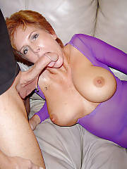 Short haired redhead wife blowing penis and gets penetrated hard.