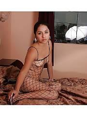 Hot latin girlfriend jessica wearing a hot fishnet.
