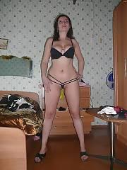 My MILF stripteasing