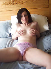Sexy wife julian undresses and teasing at home.