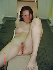 Sexy busty military lady gets naked in the bathroom.