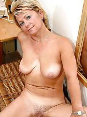 Horny blond mature
