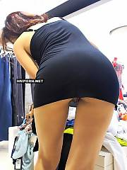 Real amateur gals flashing panties and naked cunts under skirt at public places