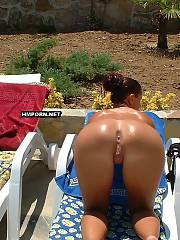 Very pretty chicks enjoy water at pool or sunbath at the sea on the public beaches worldwide, Beautiful nudist and naturist women sunbathing absolutely naked and filmed by voyeurists