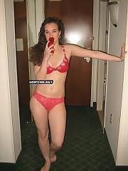 Curly nymph posing