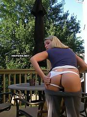 Super hot blonde amateur woman posing at home and outdoors, spreading legs wide to show her delicious cunt and demonstrating her chic body with huge butt and sexy legs and feet, And perfect boobies of course!