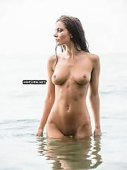 Beach gals swimming