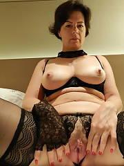 Black stockings Amateur Brunette Closeup