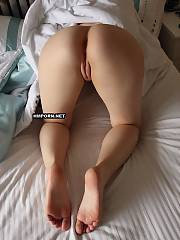 Big ass gf shows her stunning backside pictured closeup by her bf & having doggy style amateur sex with him on these homemade xxx pics