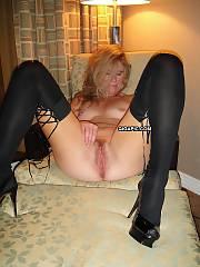 Slut wife Bridgette unshaved pussy spread fucked & creampie