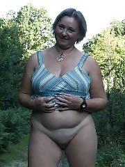 Severine naked outside Amateur MILF
