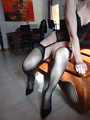 Sumbissive wife in nylon two Amateur MILF Stockings
