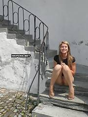 Beautiful women wearing no panties under skirt on sexy summer days and flashing their nude vaginas at public places of huge cities and parks  amateur sex pics